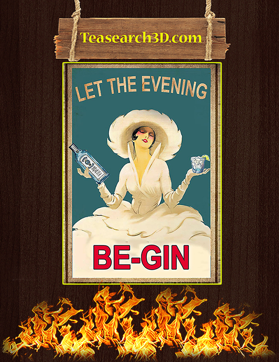 Let the evening be-gin poster A2