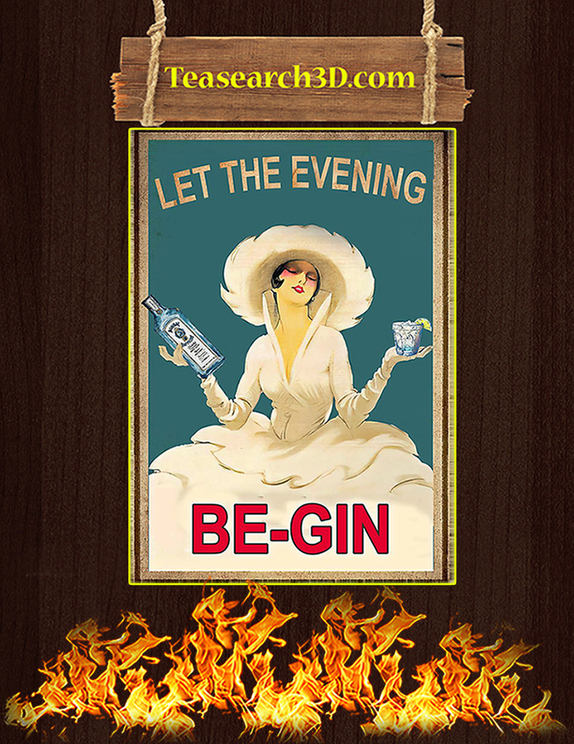 Let the evening be-gin poster A3