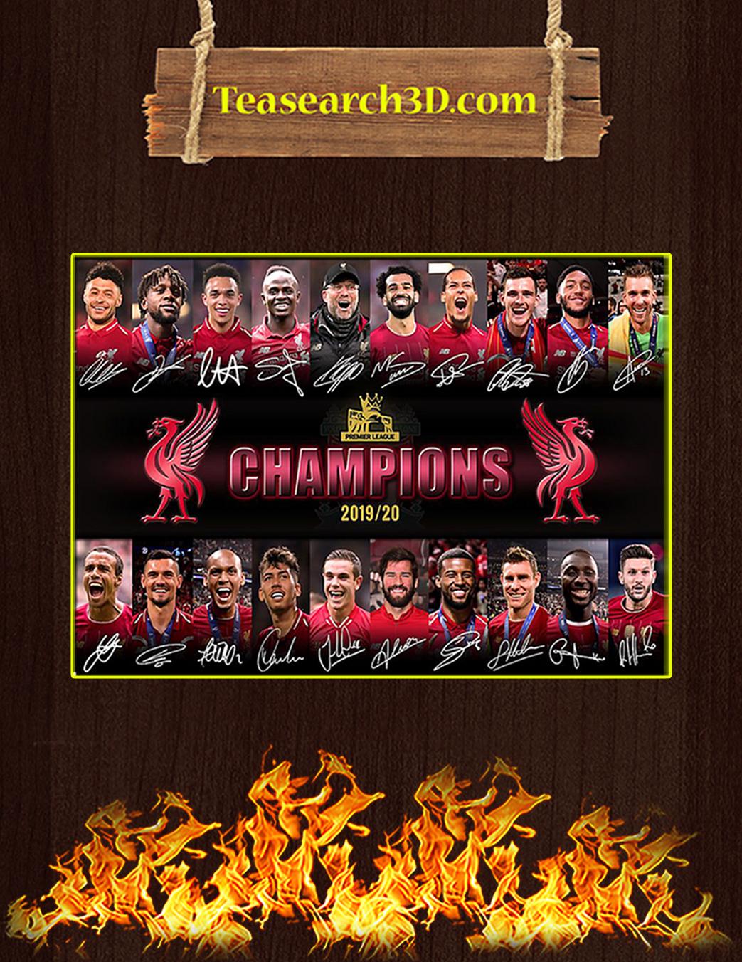 Liverpool premier league champions signature poster A1