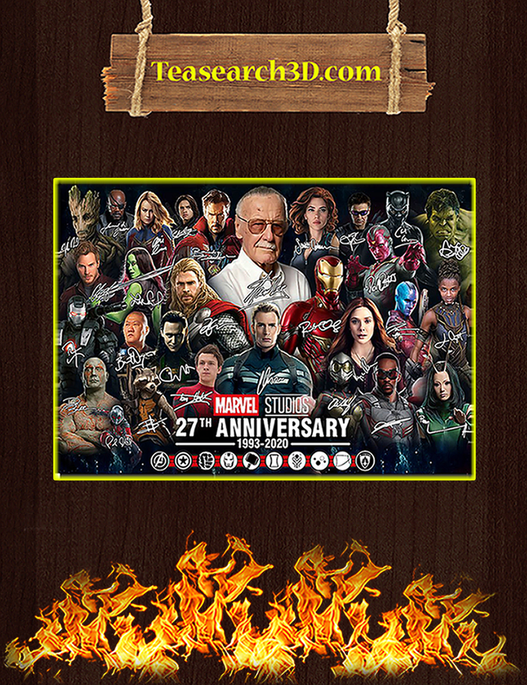 Marvel studios 27th anniversary signature poster A1