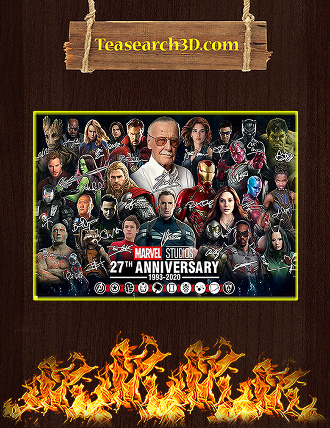 Marvel studios 27th anniversary signature poster A3