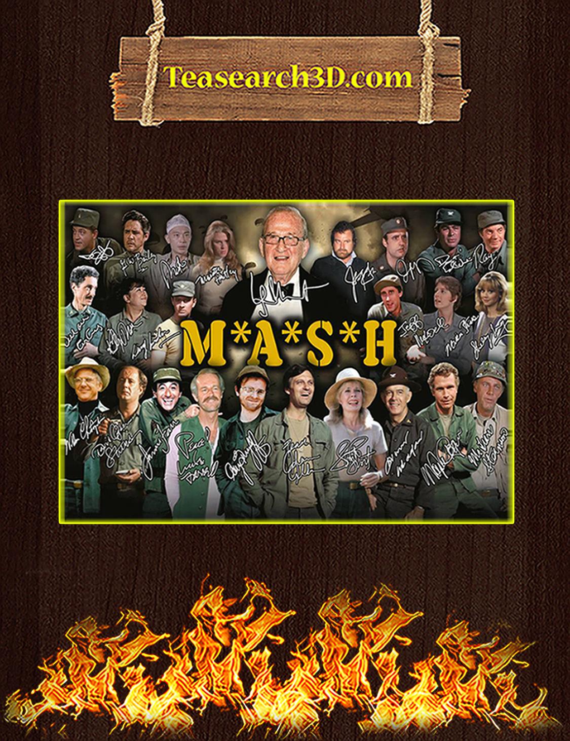 Mash signature poster A3