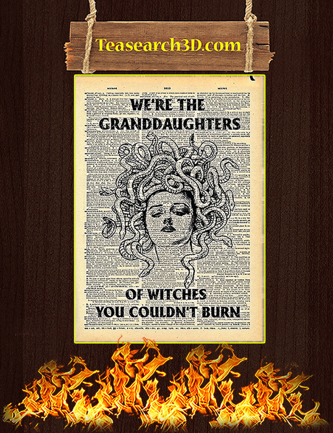 Medusa we're the granddaughters of witchs you could'n burn poster A3