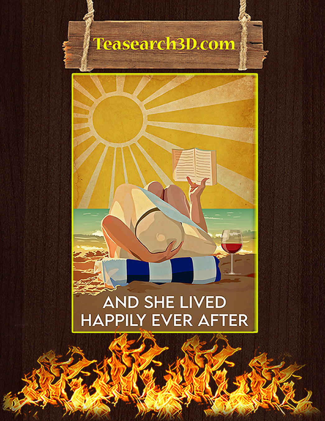 Ocean and she lived happily after ever poster A1