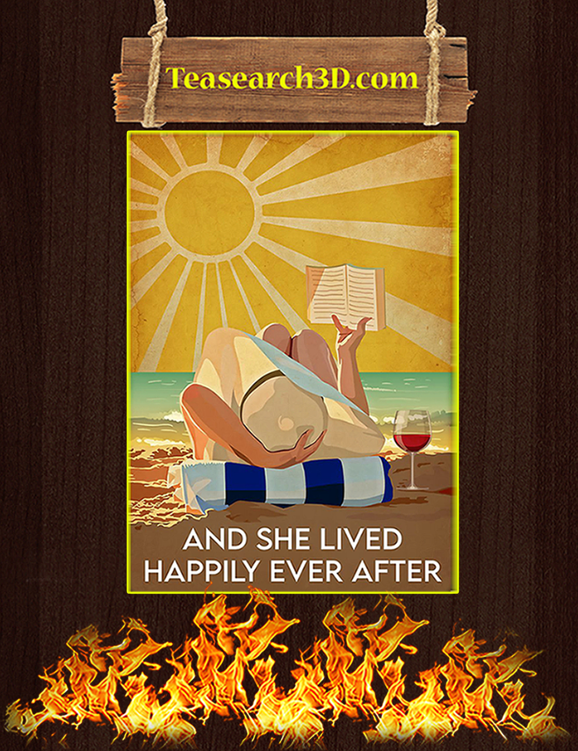 Ocean and she lived happily after ever poster A3