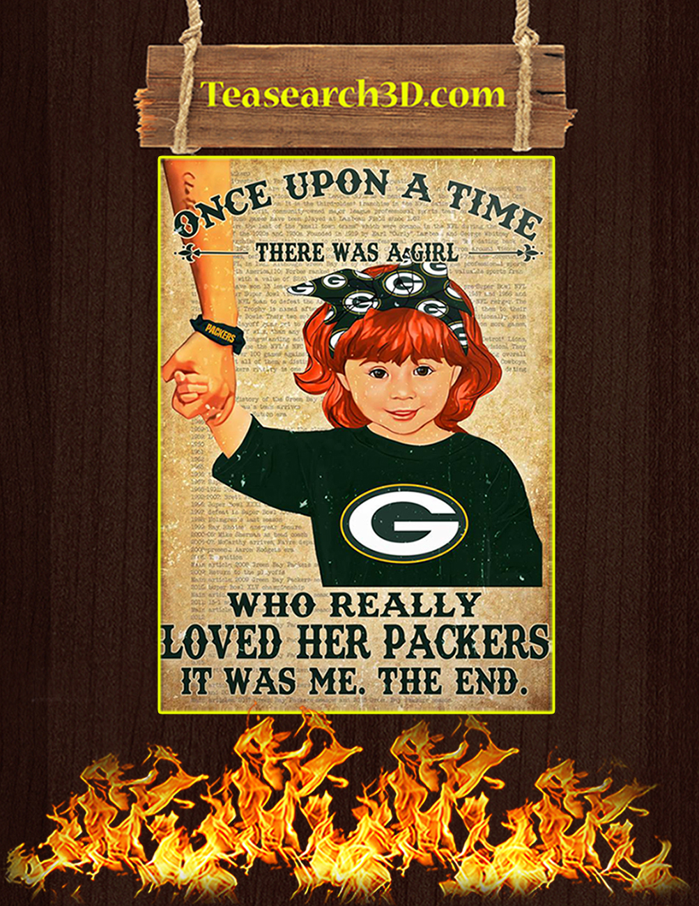 Once upon a time there was a girl who really loved her packers poster 2