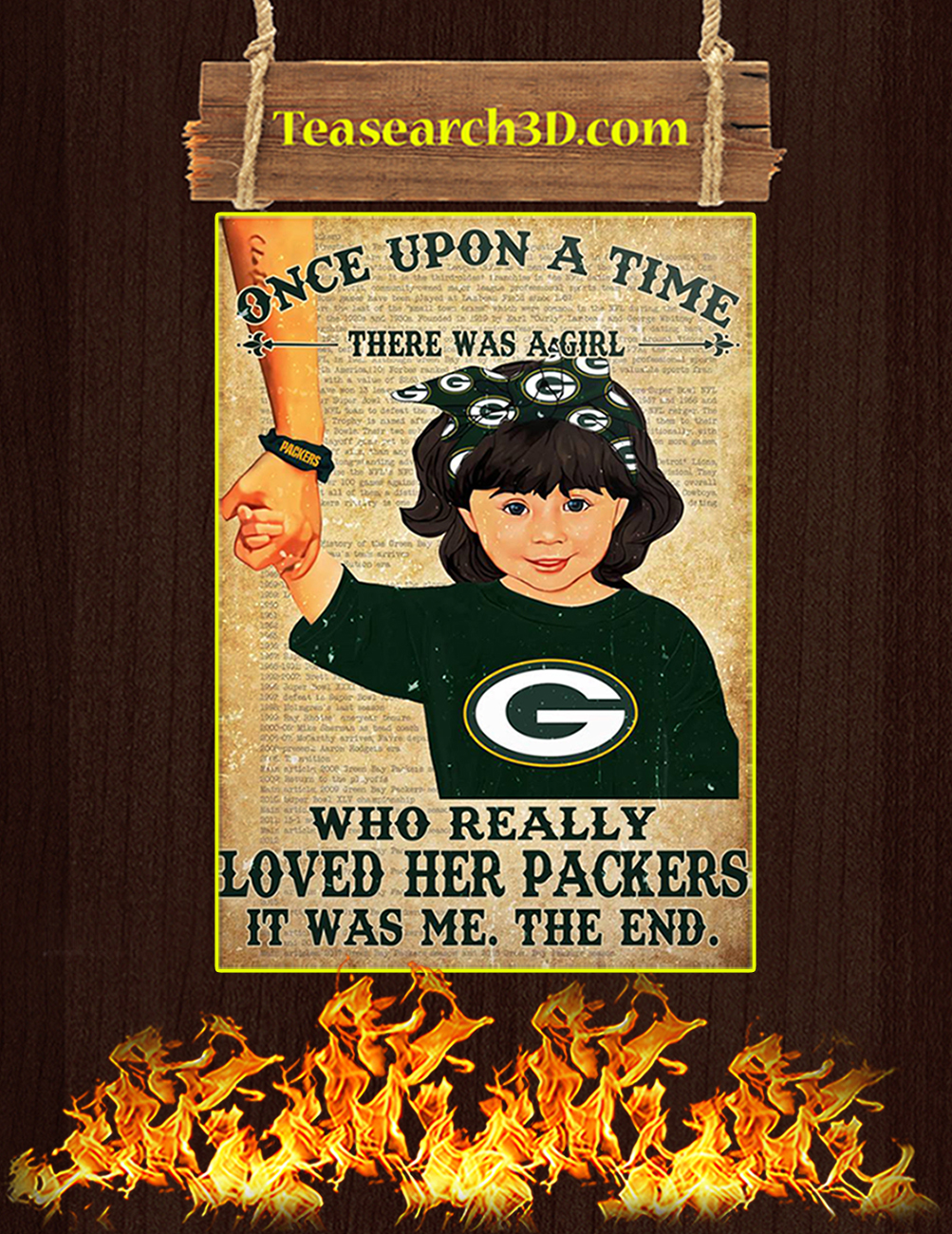 Once upon a time there was a girl who really loved her packers poster 3