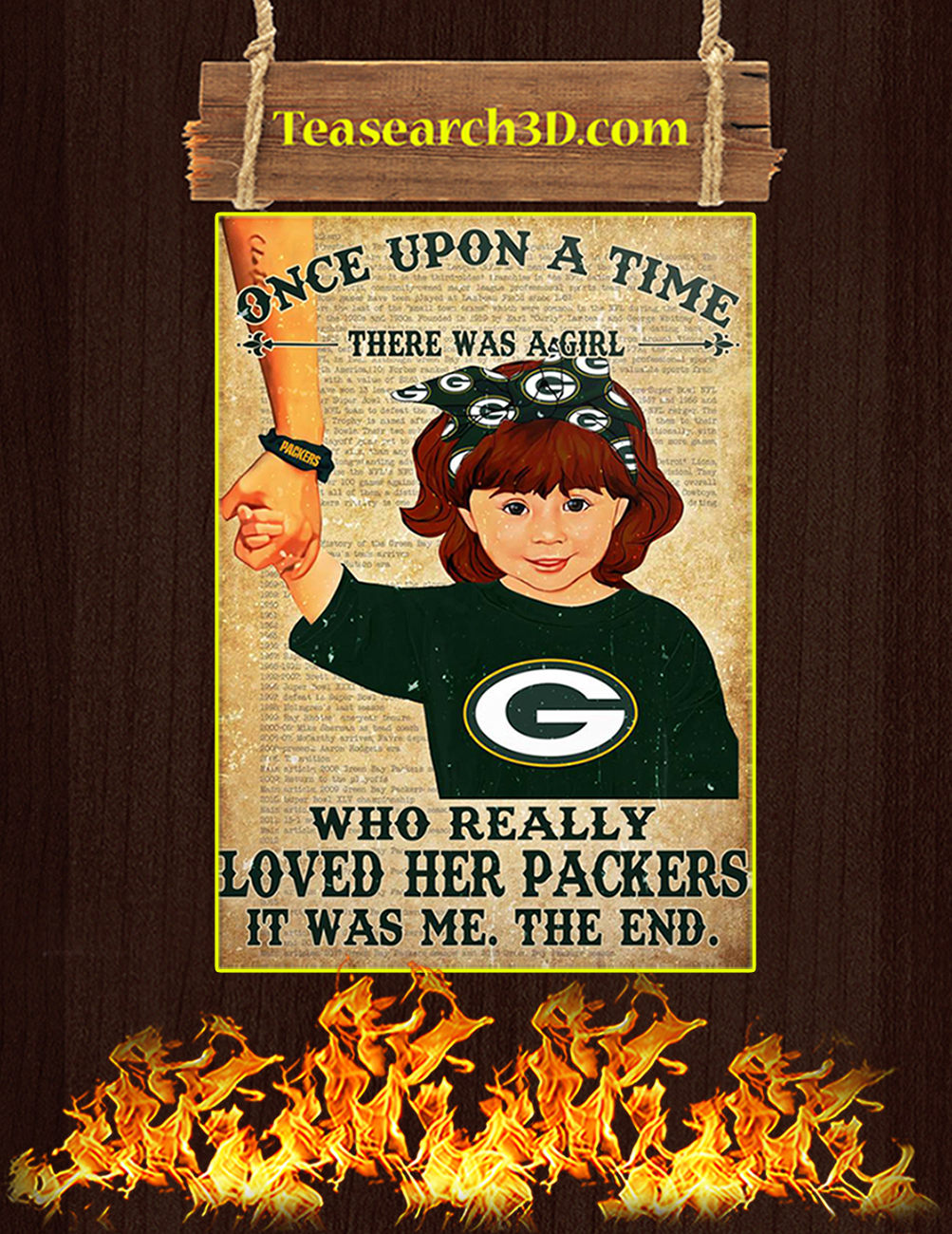 Once upon a time there was a girl who really loved her packers poster 4