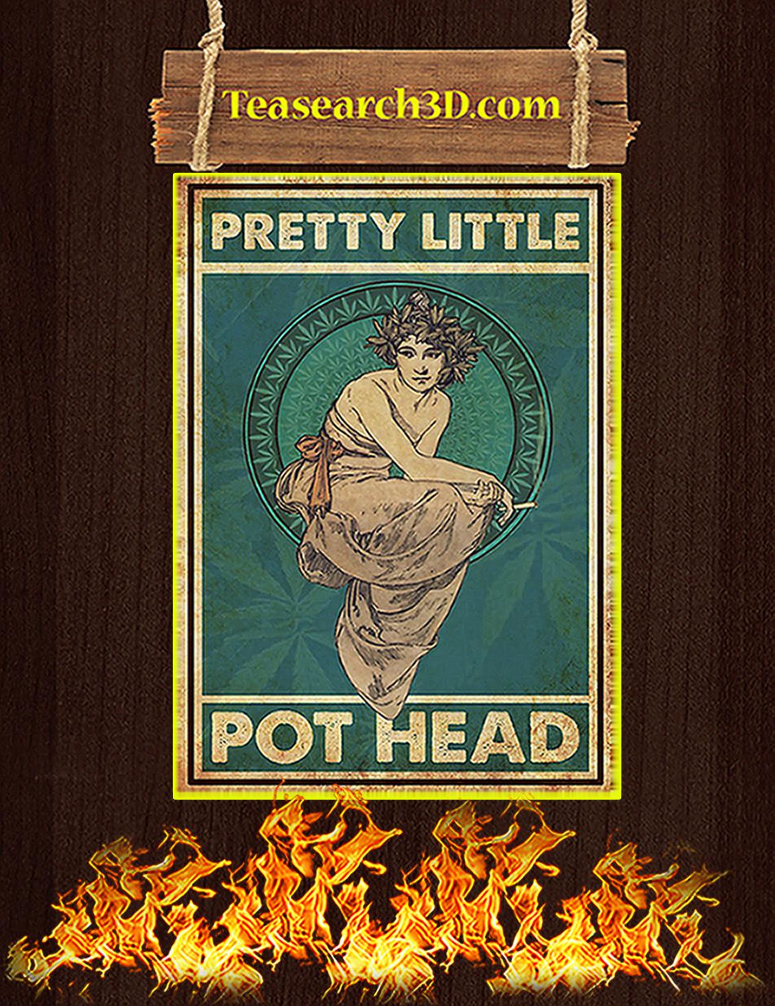 Pretty little pot head poster A3