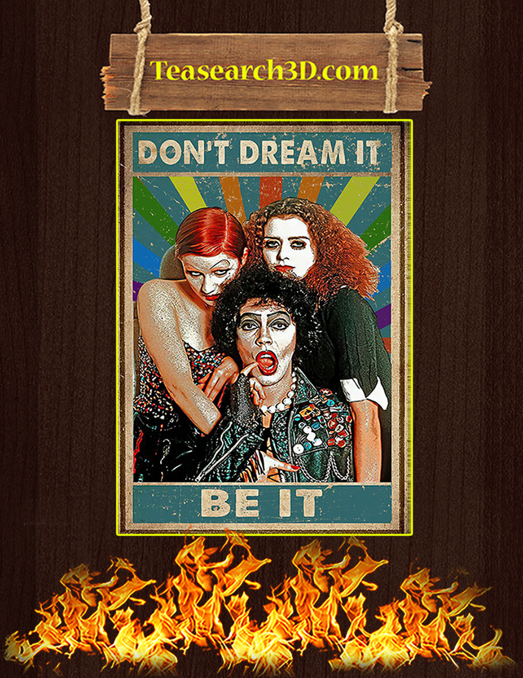 Rocky horror don't dream it be it poster A1