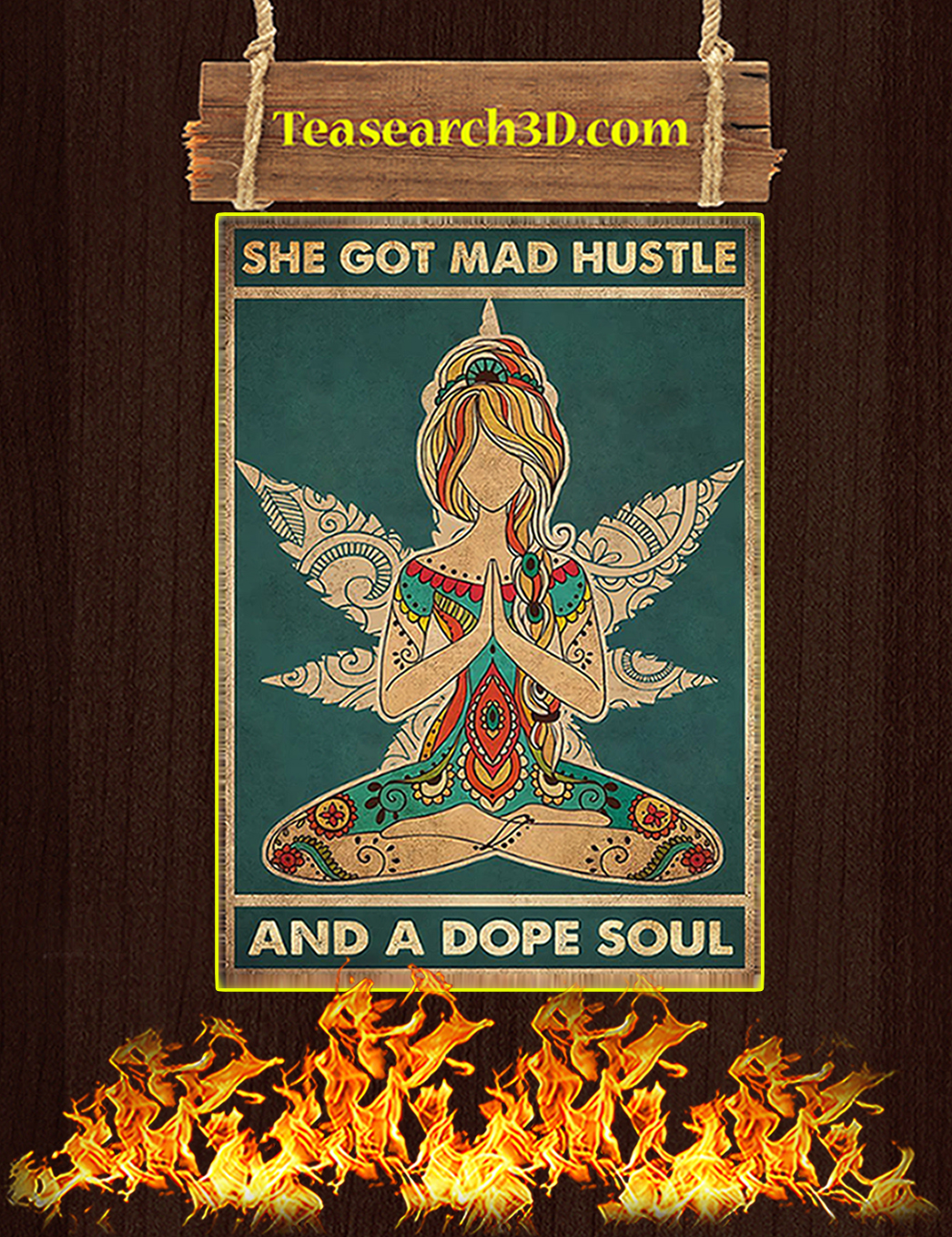 She got mad hustle and a dope soul poster A1
