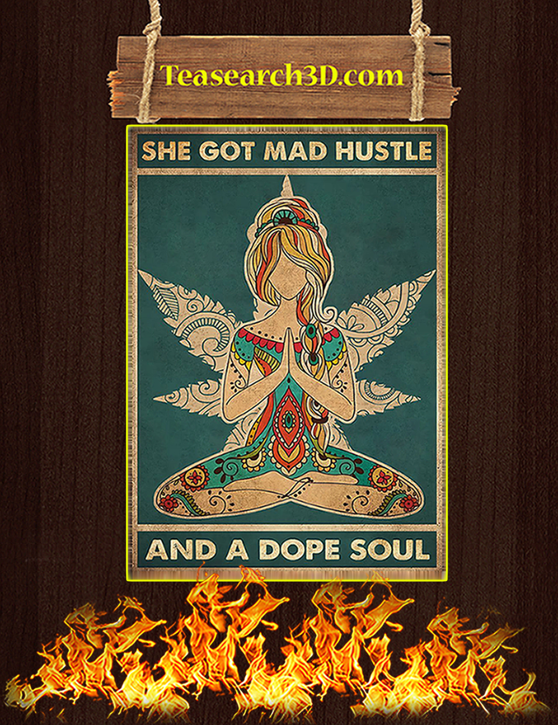 She got mad hustle and a dope soul poster A3
