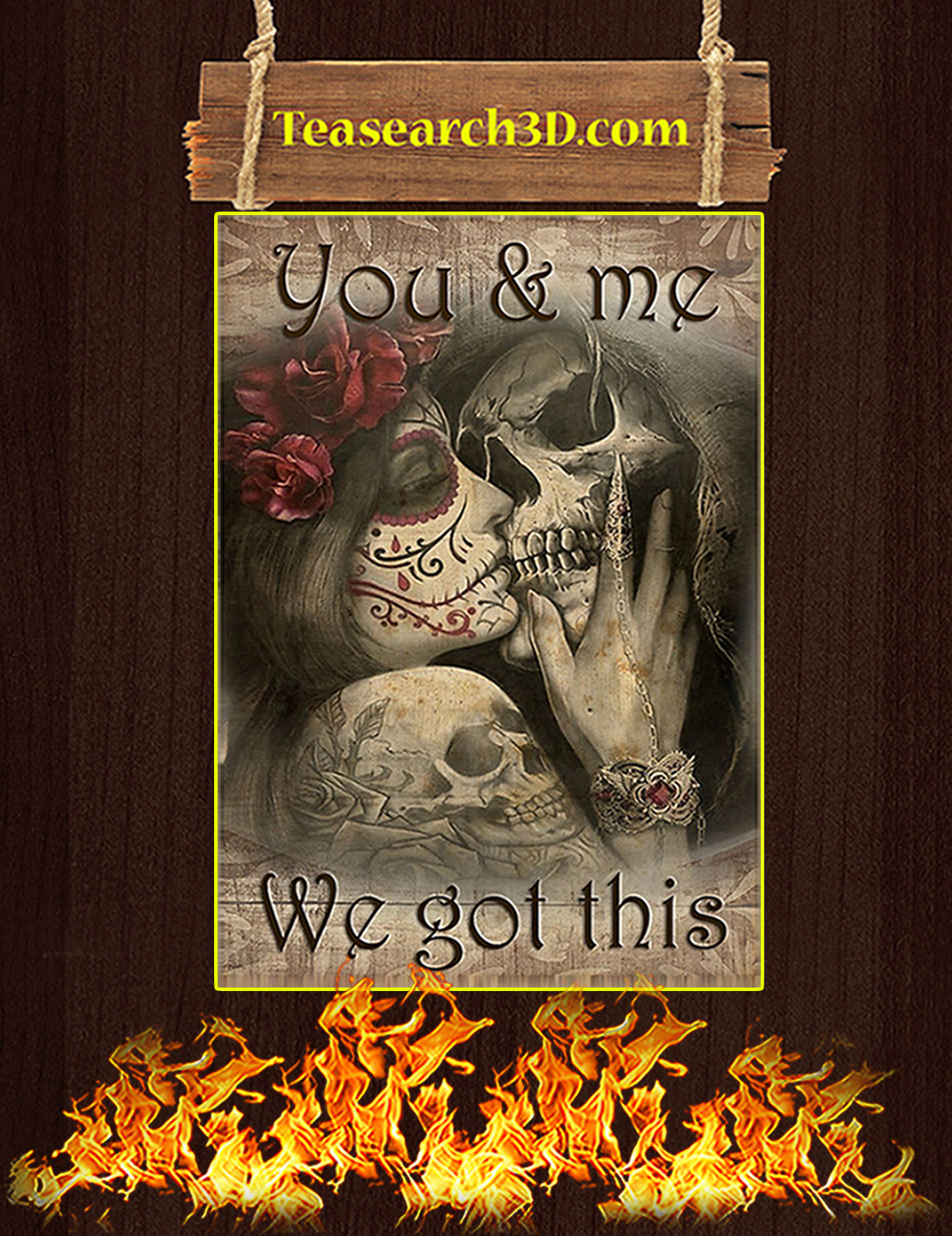 Skull you and me we got this poster A2