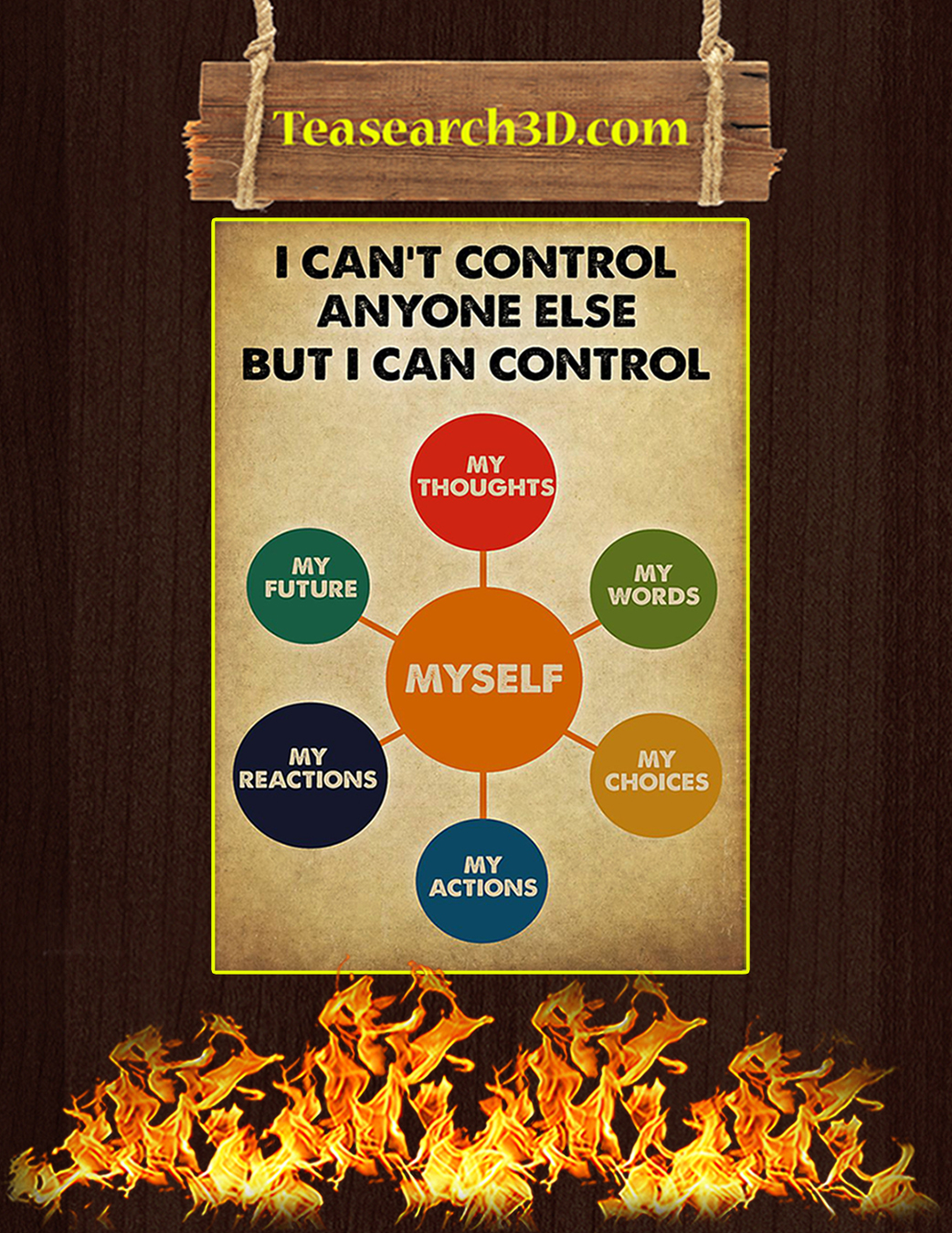 Social worker I can control anyone else but i can control poster A1