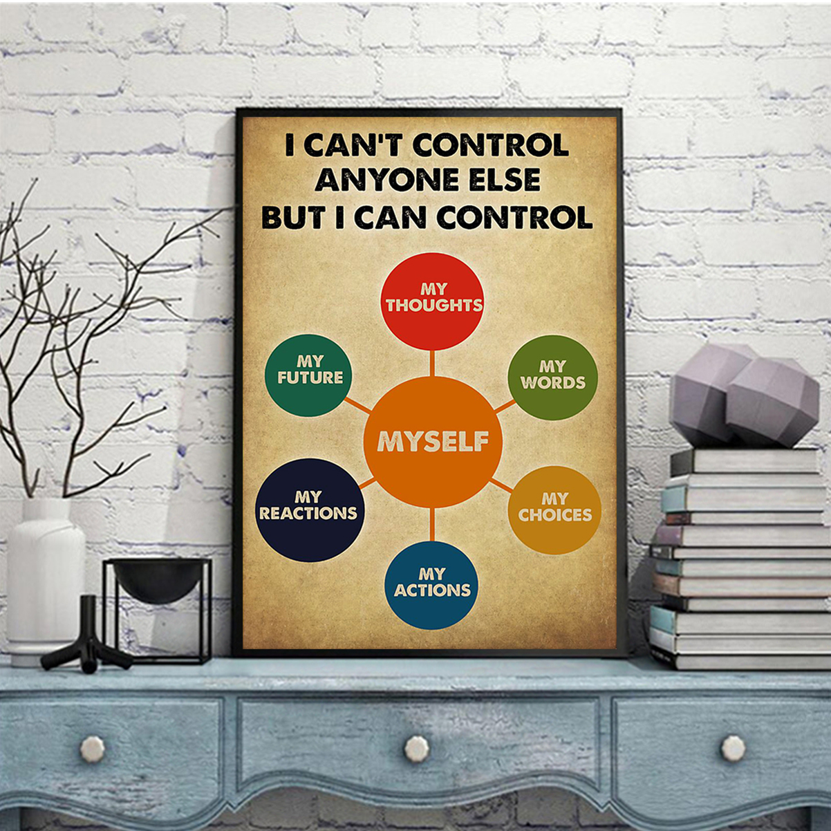 Social worker I can control anyone else but i can control poster A2