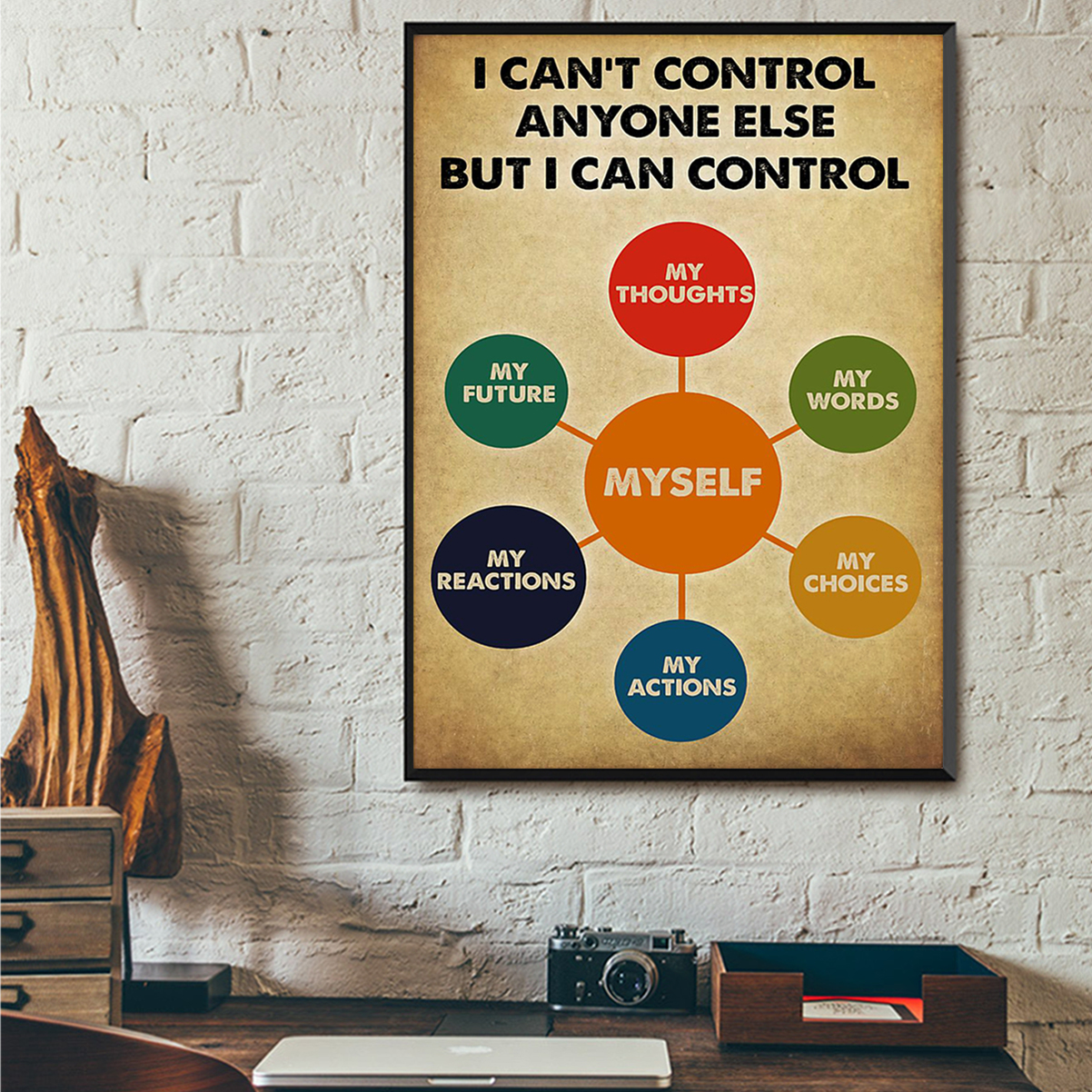 Social worker I can control anyone else but i can control poster A3