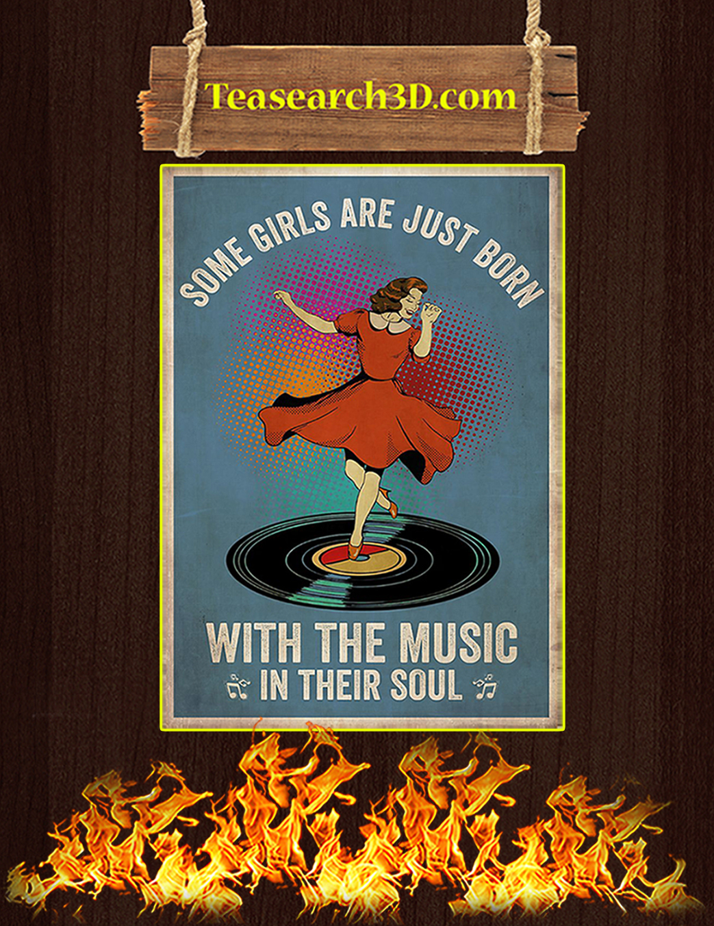 Some girl are just born with the music in their souls poster A1