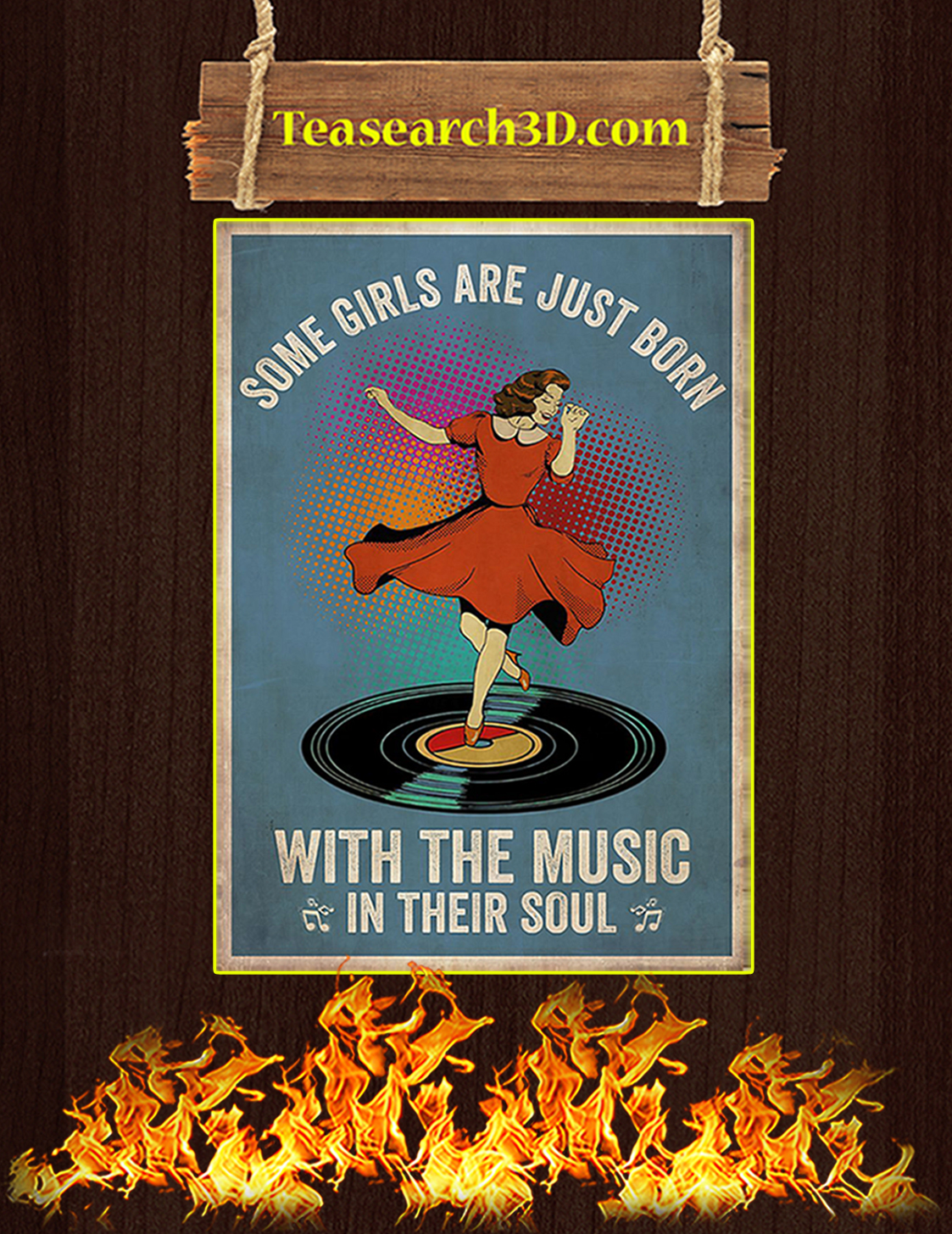 Some girl are just born with the music in their souls poster A3