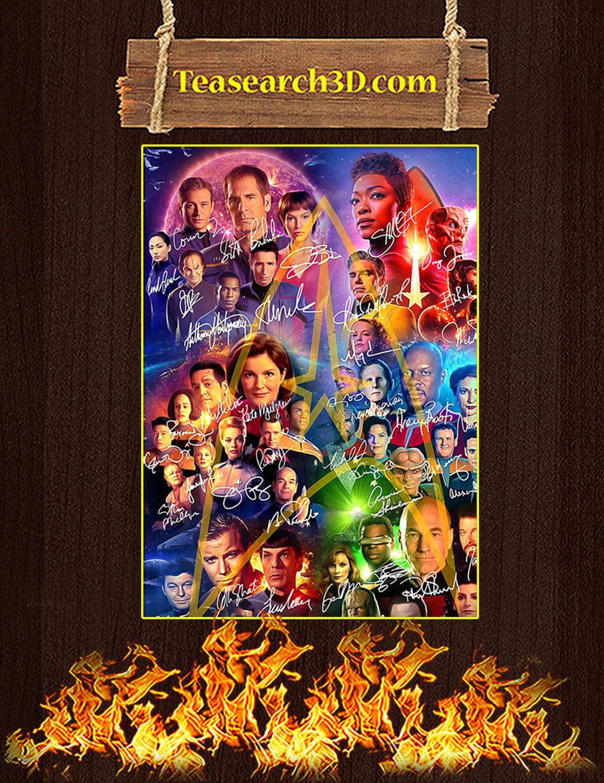Star trek signature poster A3