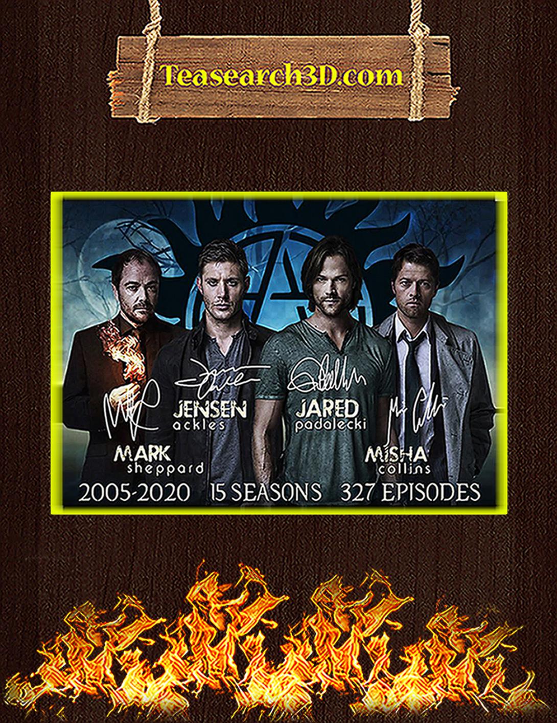 Supernatural 15 season signature poster A2