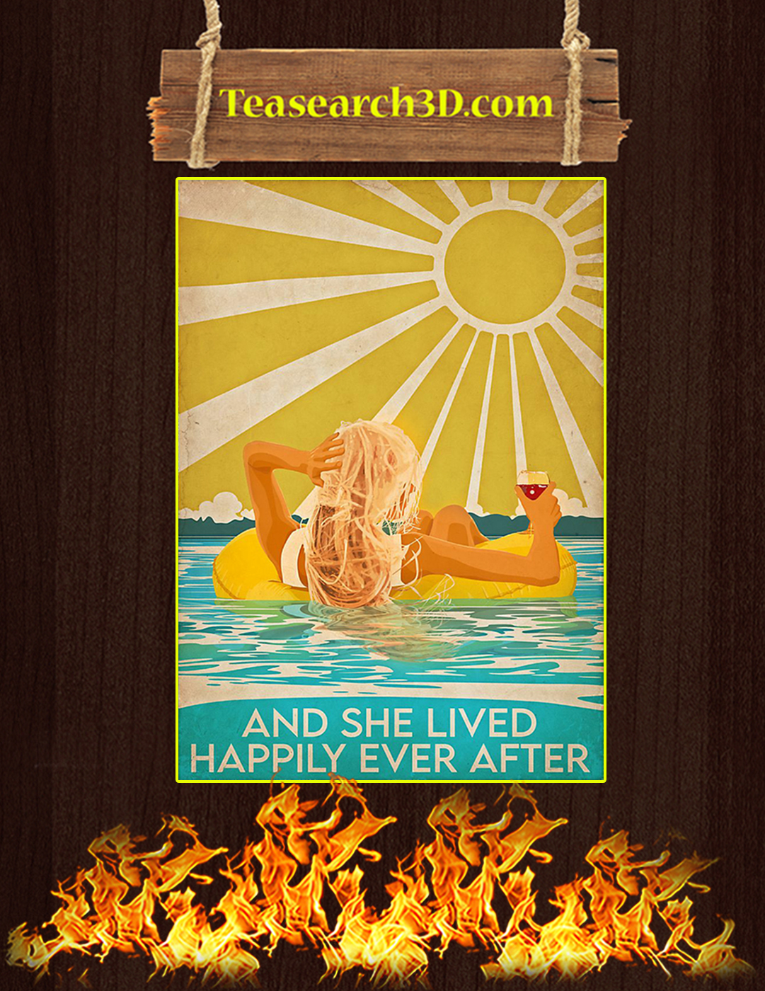 Swimming Blonde And She Lived Happily Ever After Poster A2
