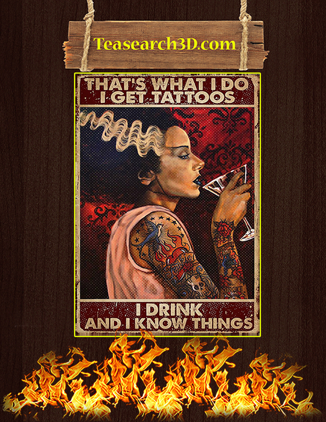 Tattoo woman that's what I do I get tattoos poster A3