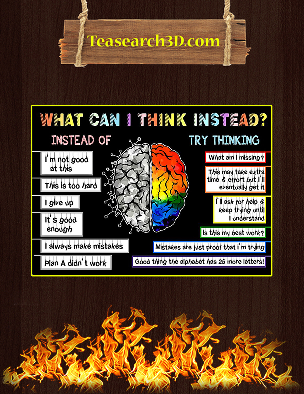 Teacher what can I think instead poster A1