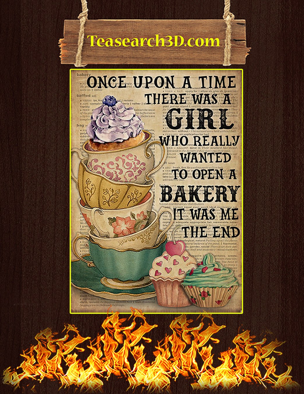 There was a girl who really wanted to open a bakery poster A1