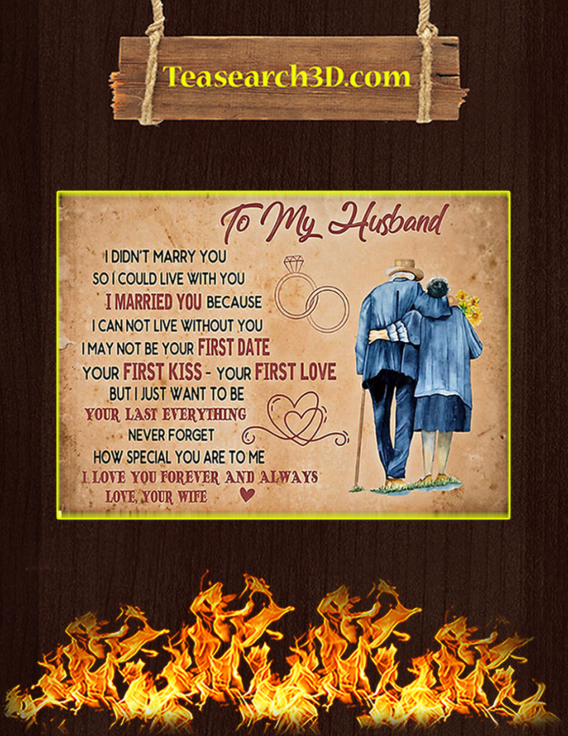 To my husband I didn't marry you poster A3