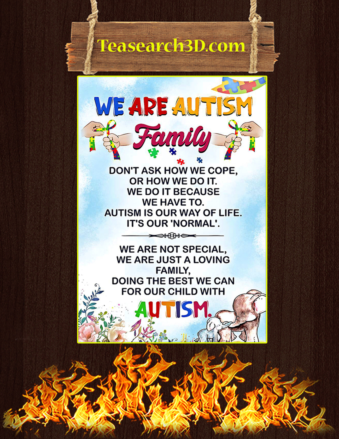 We are autism family poster A3