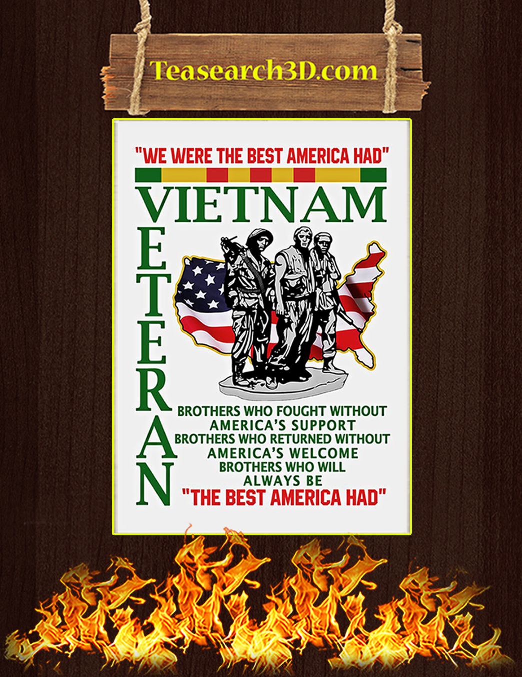 We were the best american had poster A1