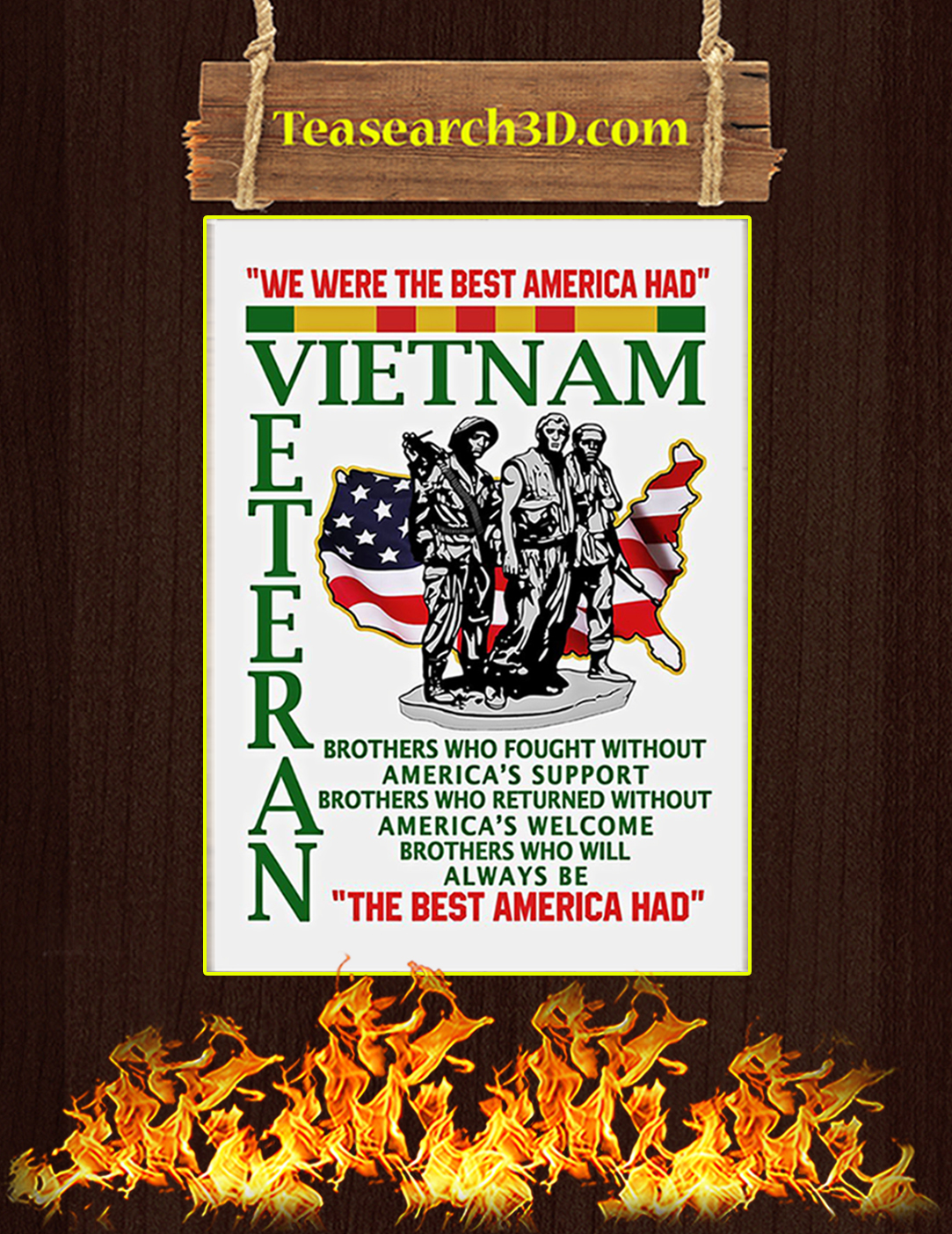 We were the best american had poster A2