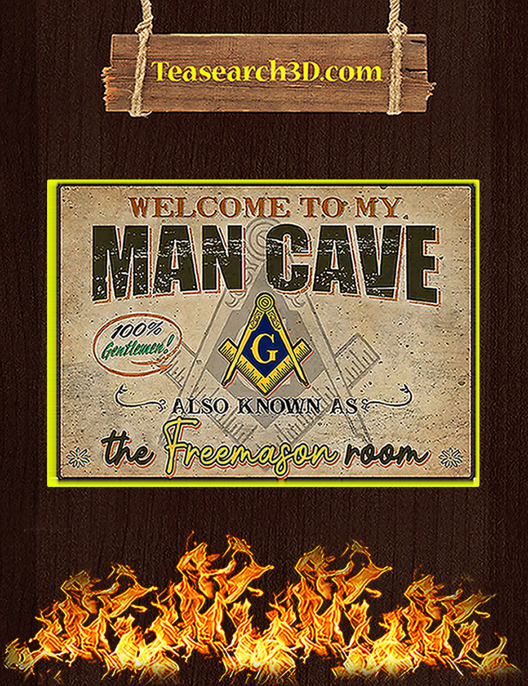 Welcome to my man cave also known as the freemason room poster A1