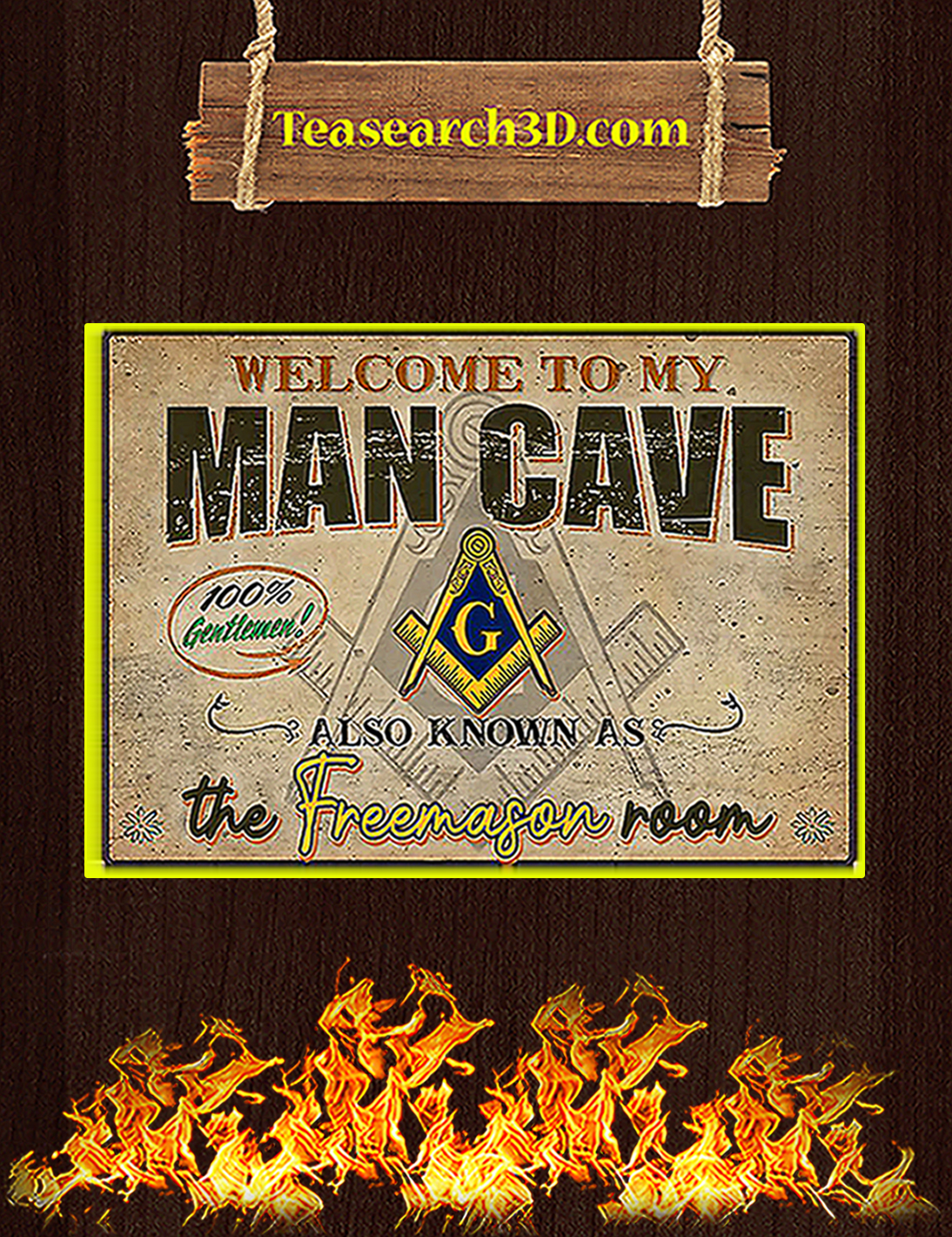 Welcome to my man cave also known as the freemason room poster A2