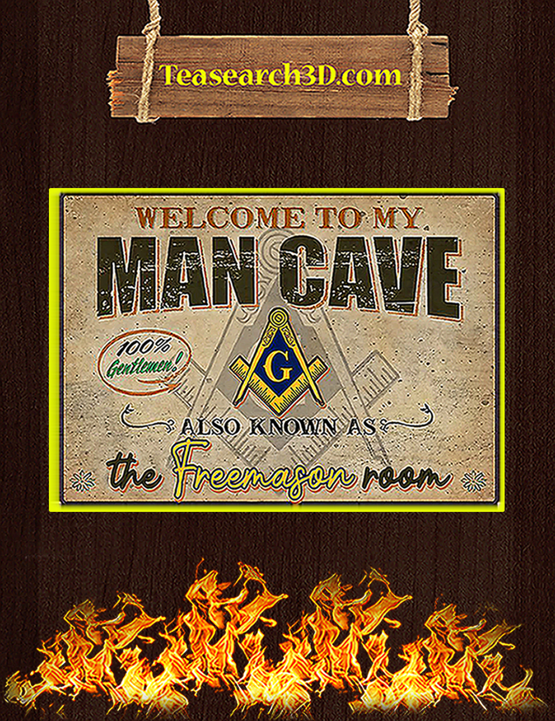 Welcome to my man cave also known as the freemason room poster A3