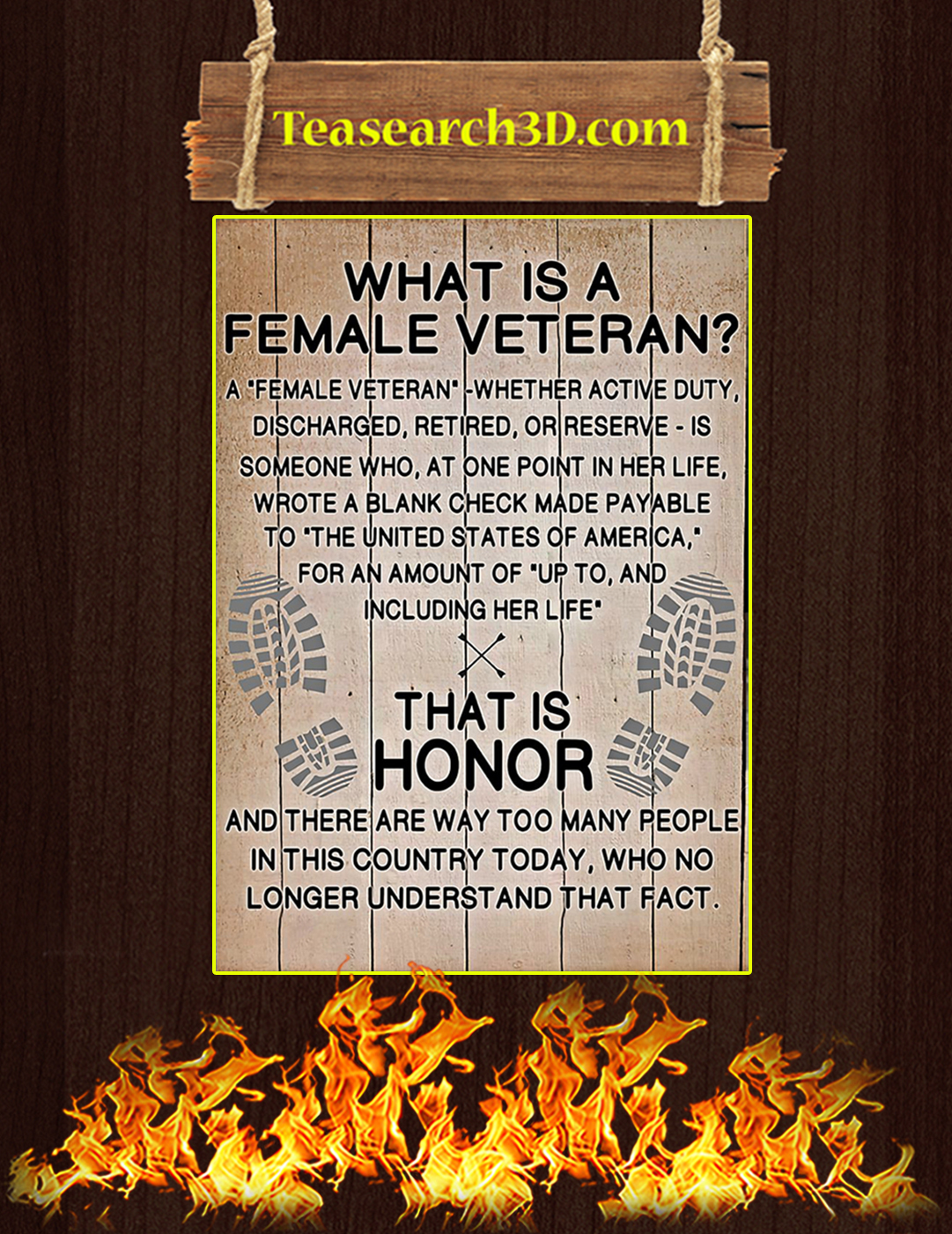 What is a female veteran poster A2