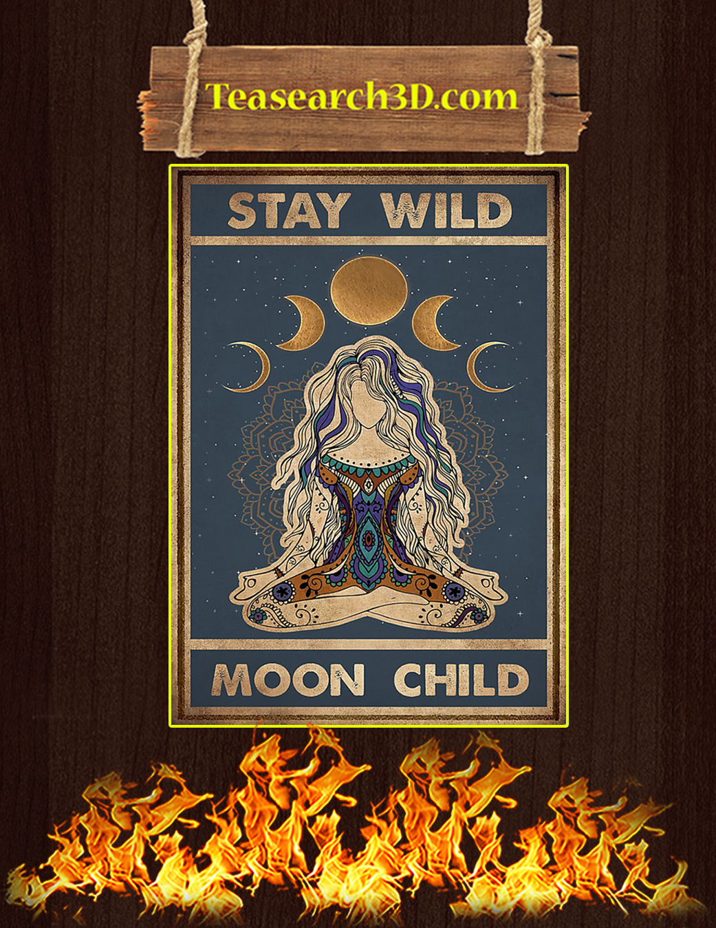 Yoga stay wild moon child poster A1