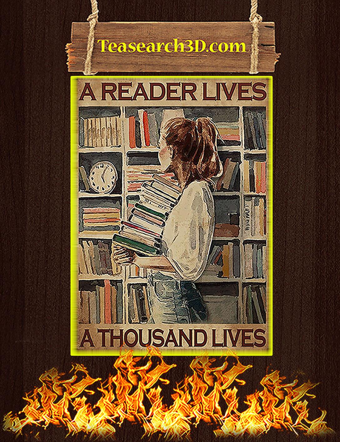 A reader lives a thousand lives poster A2
