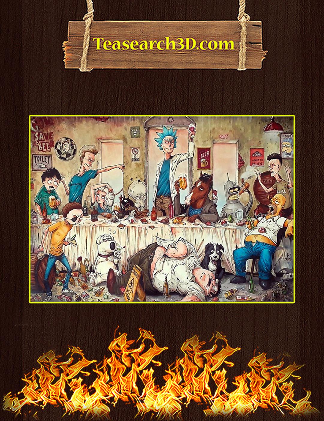 Adult cartoons art work by marcelo ventura poster A2