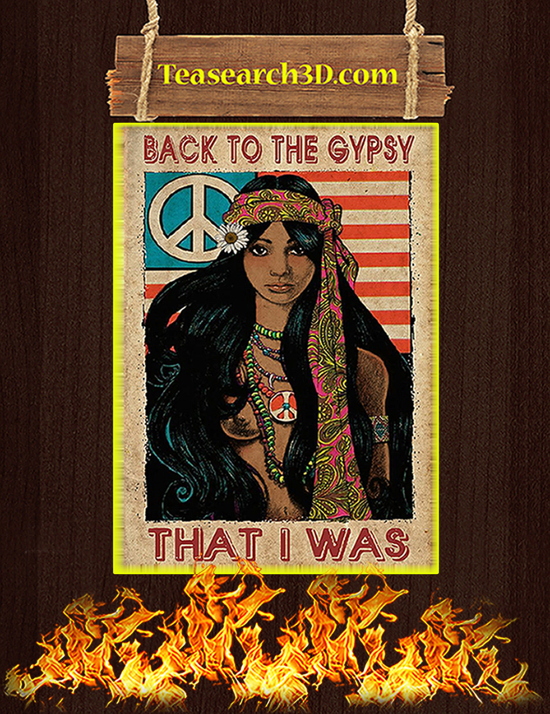 Black girl Back to the gypsy that I was poster A3