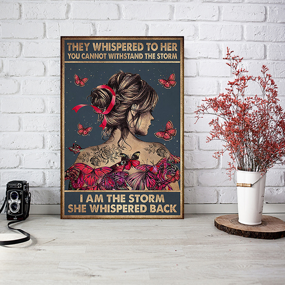 Breast cancer they whispered to her you cannot withstand the storm poster A2