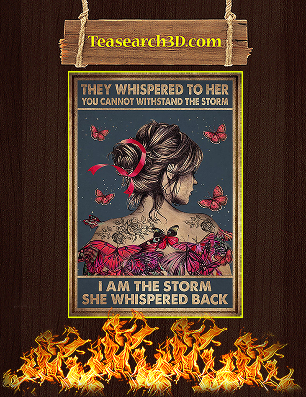 Breast cancer they whispered to her you cannot withstand the storm poster