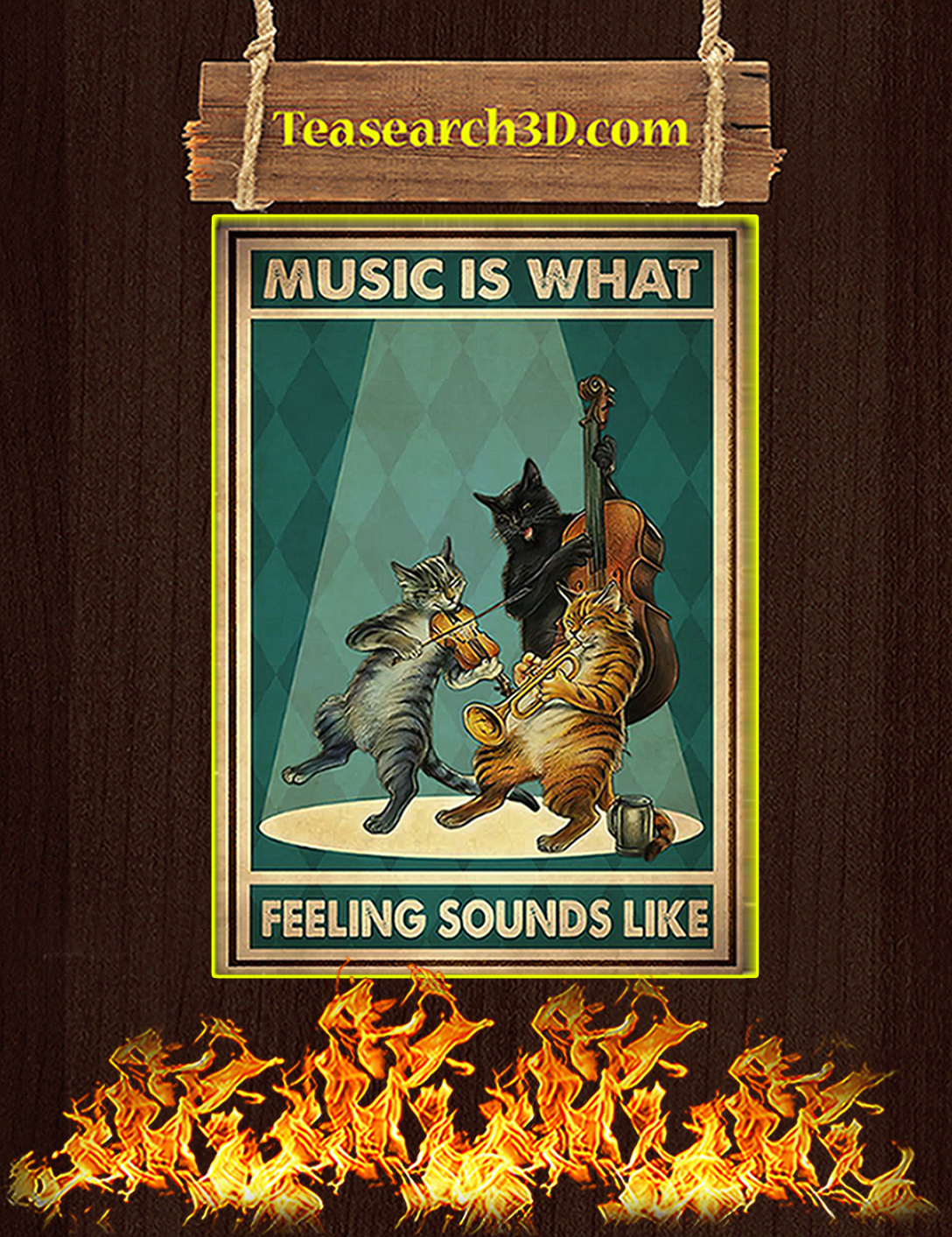 Cat Music is what feeling sounds like poster A2