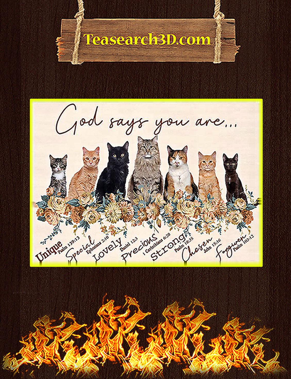 Cat god says you are poster A3