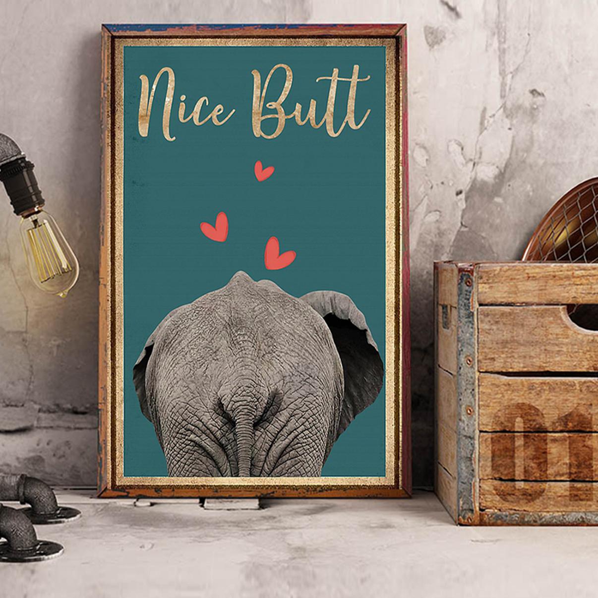 Elephant nice butt poster A1