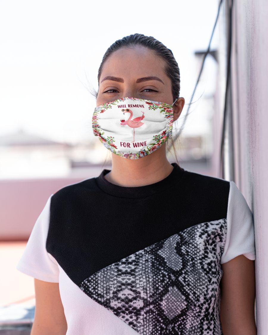 Cloth mask flamingo will remove for wine