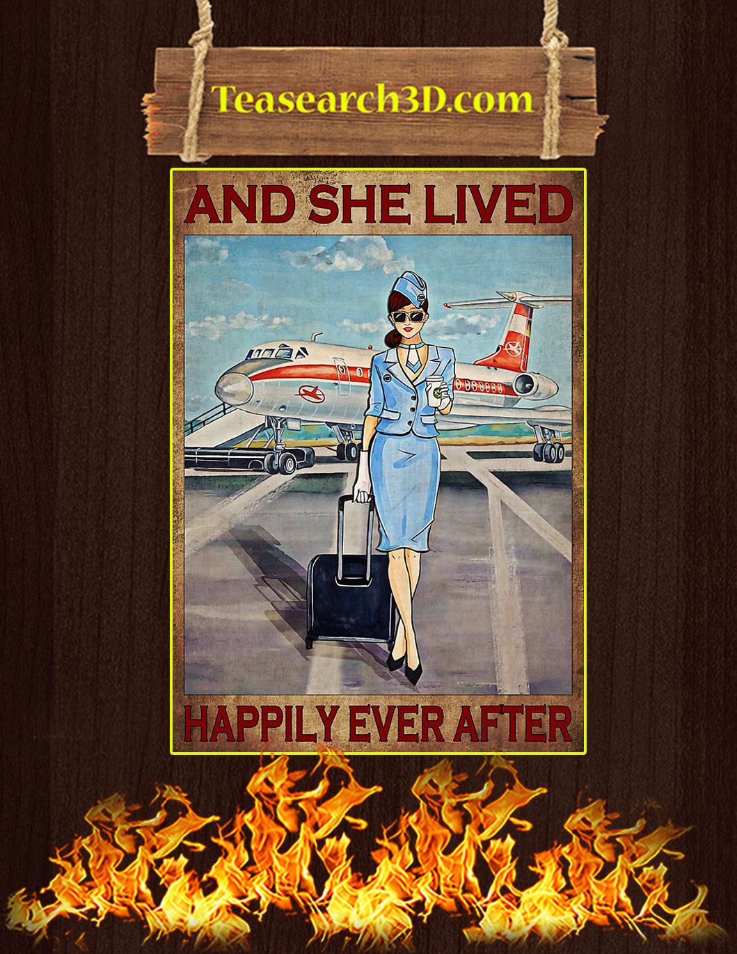 Flight attendant and she lived happily ever after poster 1