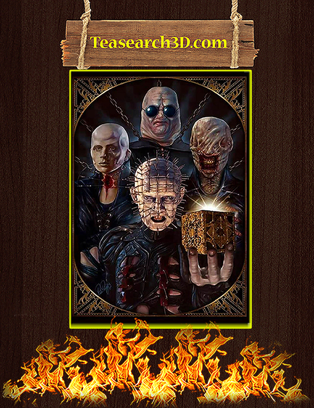 Hellraiser characters poster A1