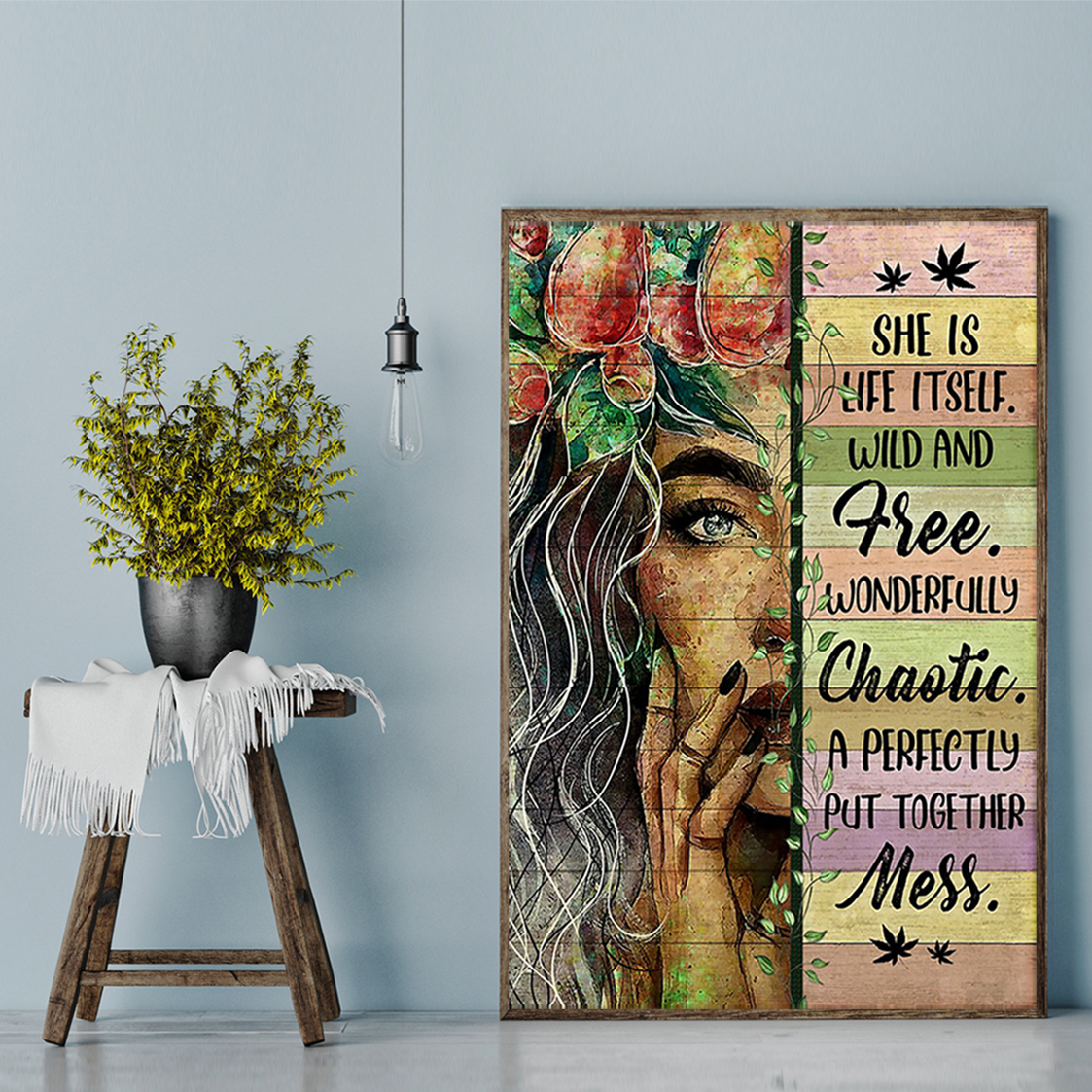 Hippie she is life itself wild and free poster A2