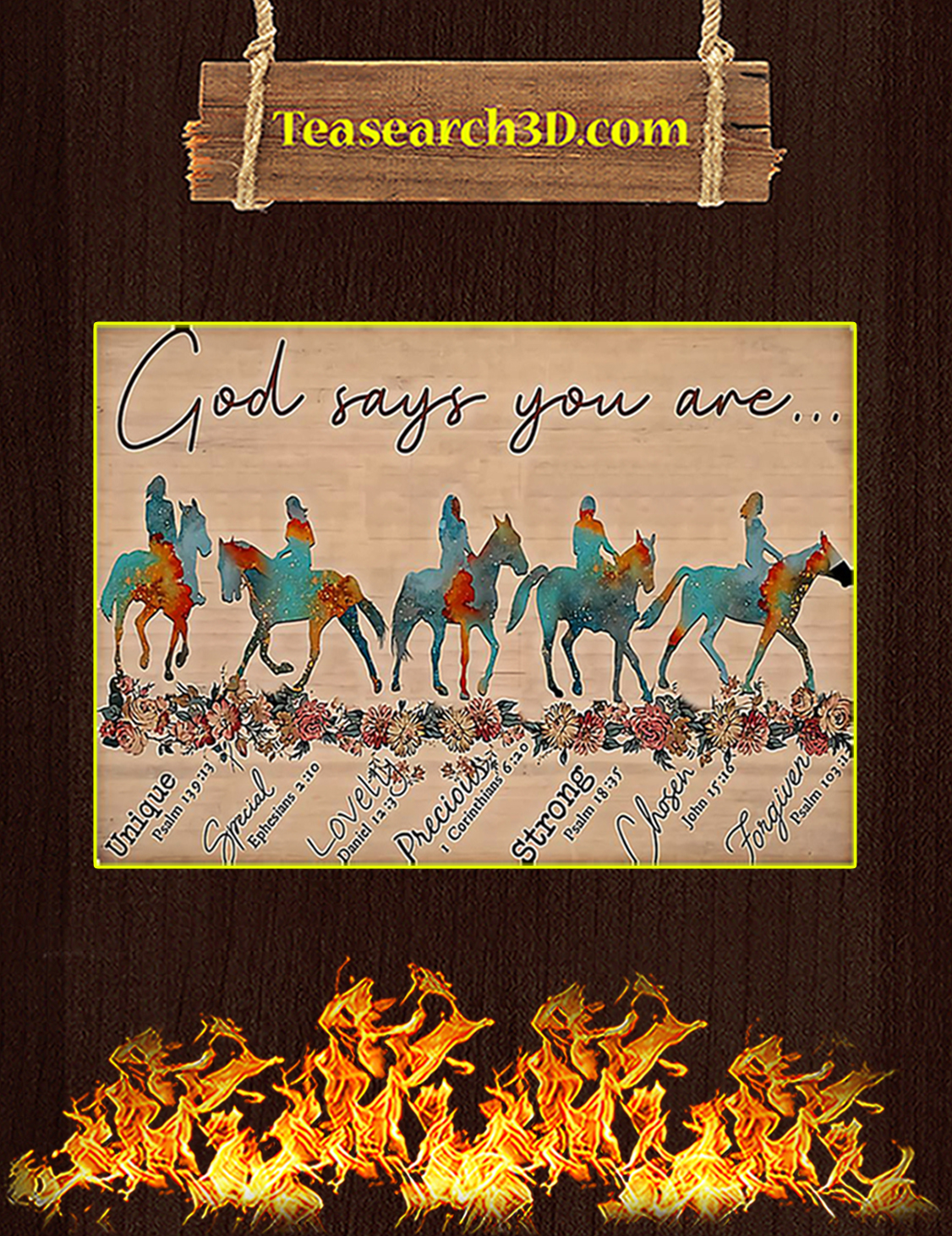 Horse god says you are poster A3